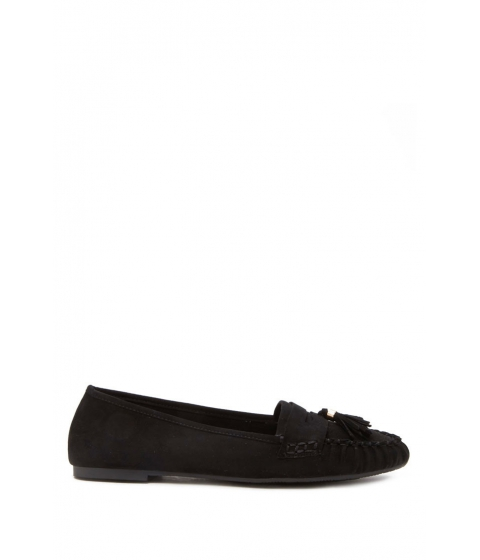 Incaltaminte Femei Forever21 Faux Suede Tasseled Loafers Black
