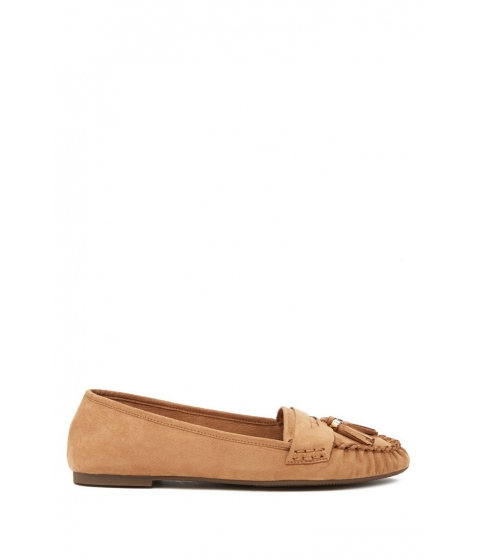 Incaltaminte Femei Forever21 Faux Suede Tasseled Loafers Taupe
