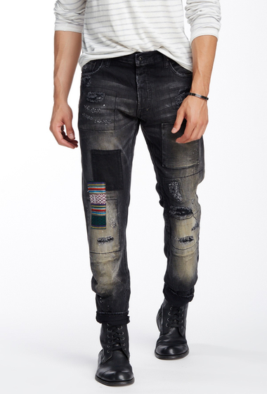 Imbracaminte Barbati Prps Vulture Distressed Jean BLACK