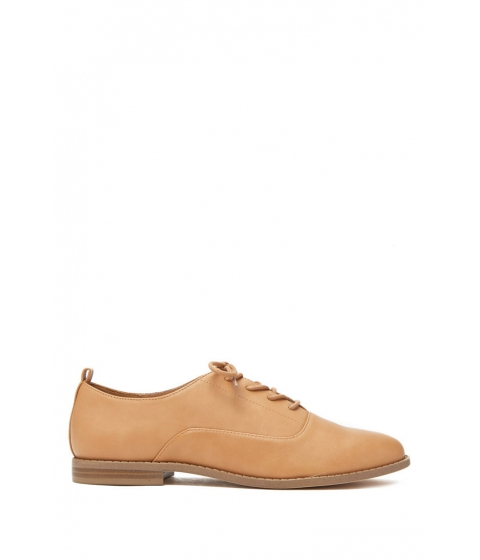 Incaltaminte Femei Forever21 Faux Leather Oxfords Tan