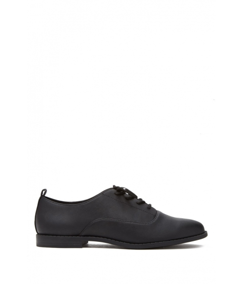 Incaltaminte Femei Forever21 Faux Leather Oxfords Black