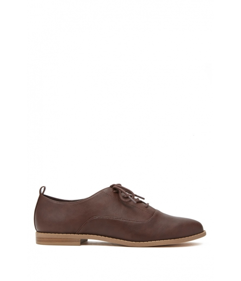 Incaltaminte Femei Forever21 Faux Leather Oxfords Dark brown