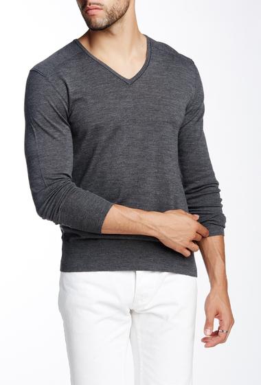 Imbracaminte Barbati John Varvatos Collection V-Neck Wool Sweater DKGREY HTH