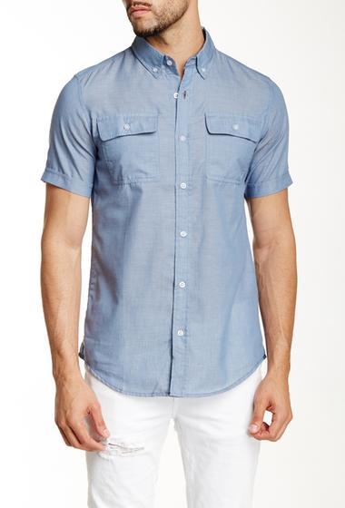Imbracaminte Barbati Burnside Short Sleeve Woven Shirt BLUE
