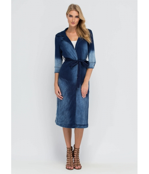 Imbracaminte Femei CheapChic Decked Out In Denim Trench Coat Blue
