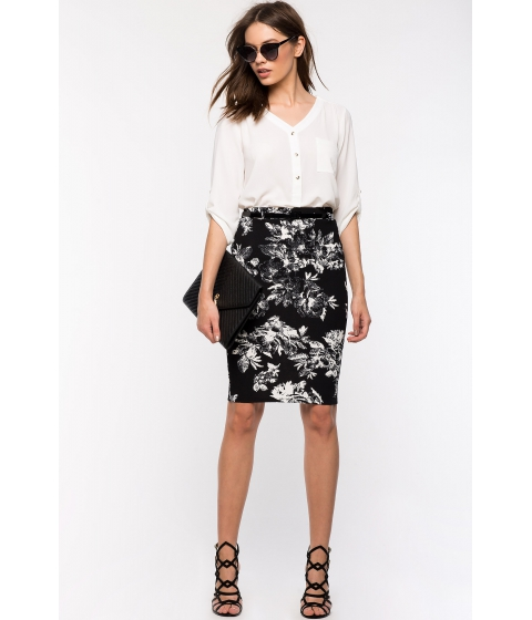 Imbracaminte Femei CheapChic Black Garden Pencil Skirt Black
