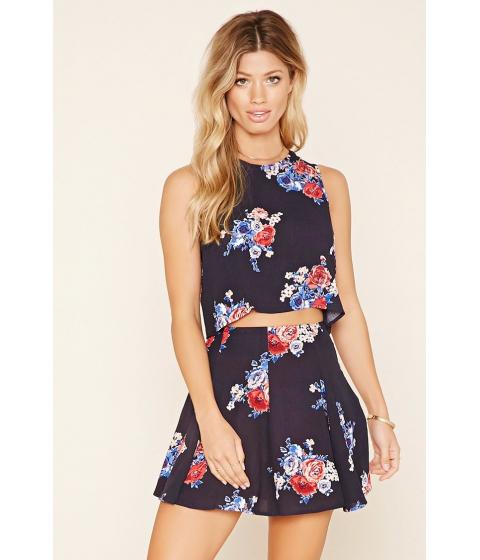Imbracaminte Femei Forever21 Floral Skater Skirt Navyred