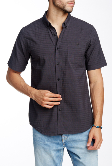 Imbracaminte Barbati Ezekiel Divided Woven Short Sleeve Regular Fit Shirt BLACK