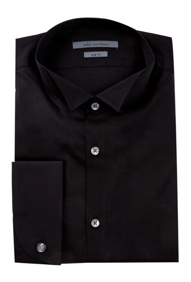 Imbracaminte Barbati John Varvatos Collection Mini Spread Collar Slim Fit Shirt BLACK