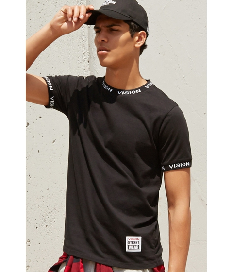 Imbracaminte Barbati Forever21 Vision Street Wear Logo Tee Blackwhite