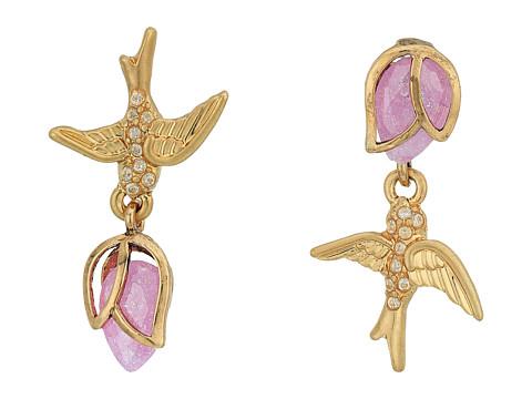 Bijuterii Femei Betsey Johnson Bird Non-Matching CZ Stud Earrings Pink
