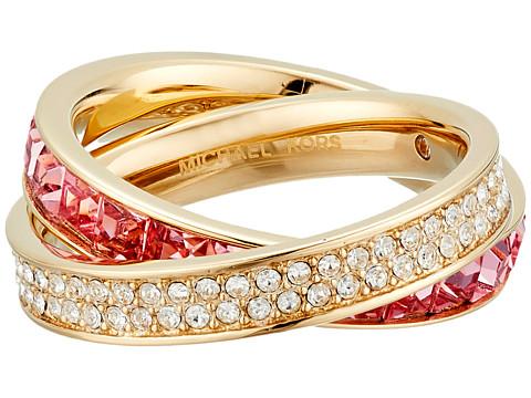 Bijuterii Femei Michael Kors Cubic Zirconium Interlocking Ring GoldPink Cubic ZirconiumClear