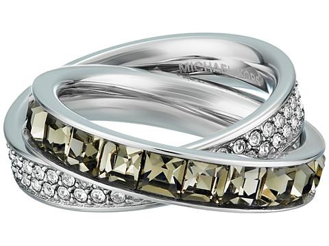 Bijuterii Femei Michael Kors Cubic Zirconium Interlocking Ring SilverGrey Cubic ZirconiumClear