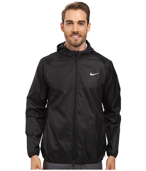 Imbracaminte Barbati Nike Golf Range Packable Hooded Jacket BlackAnthraciteFlt Silver