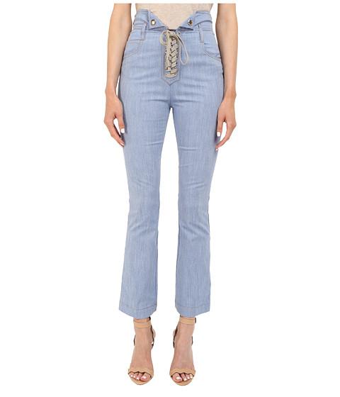 Imbracaminte Femei Just Cavalli Tie Front Five-Pocket Pants Blue Denim