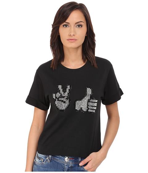 Imbracaminte Femei Philipp Plein Thumbs Up T-Shirt Black