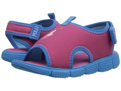 Incaltaminte Fete Polo Ralph Lauren Wavecroft II (Toddler) Pink Stretch PUCaribbean Blue
