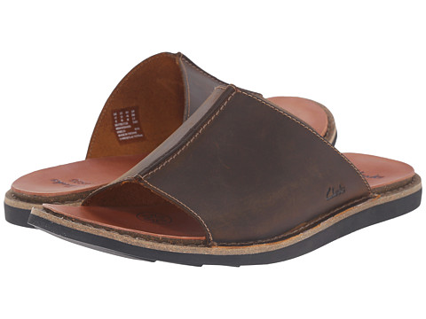 Incaltaminte Barbati Clarks Lynton Slide Tan Leather