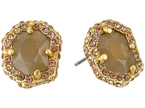 Bijuterii Femei Vince Camuto Femme Rock Stud Earrings Worn GoldMilky GreyLight Peach Pave