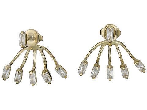 Bijuterii Femei Vince Camuto Crystal Baguettes Front Back Earrings GoldCrystal CZ