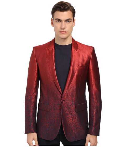 Imbracaminte Barbati Just Cavalli Ombre Red To Blue 1B Peak Lapel Red