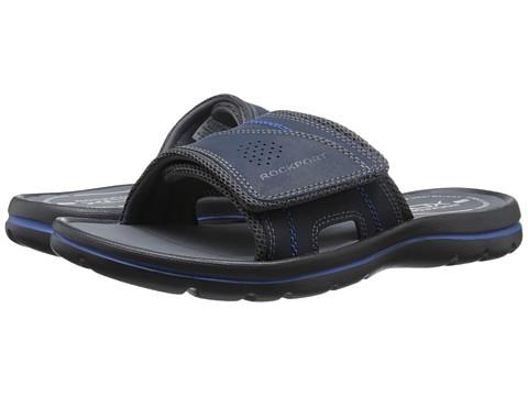 Incaltaminte Barbati Rockport Get Your Kicks Sandals Hook and Loop Slide NavyBlue