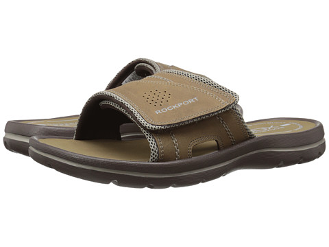 Incaltaminte Barbati Rockport Get Your Kicks Sandals Hook and Loop Slide TanSand
