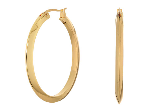 Bijuterii Femei LAUREN Ralph Lauren Luxe Links Large Oval Knife Edge Hoop Earrings Gold