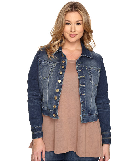 Imbracaminte Femei Jag Jeans Plus Size Savannah Jacket in Forever Blue Knit Denim Forever Blue