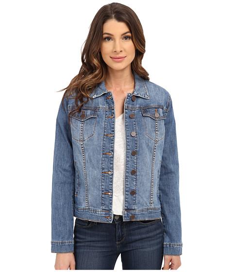 Imbracaminte Femei KUT from the Kloth Button Front Jacket w Pocket Flaps ZealousMedium Base Wash