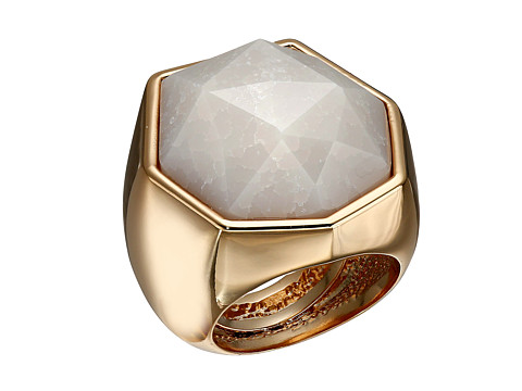 Bijuterii Femei Vince Camuto Angular Stone Ring Burnt Rose GoldCrackled White Opal
