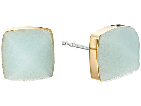 Bijuterii Femei Michael Kors Blush Rush Semi Precious Pyramid Stud Earrings GoldMint