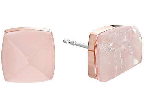 Bijuterii Femei Michael Kors Blush Rush Semi Precious Pyramid Stud Earrings Rose GoldBlush