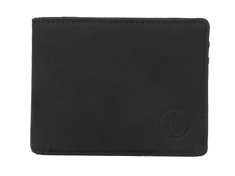 Genti Barbati Volcom Prime Leather Wallet Black