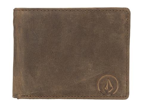 Genti Barbati Volcom Prime Leather Wallet Brown