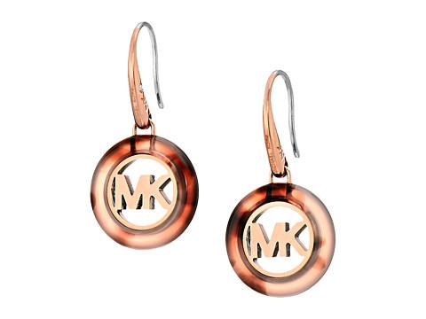 Bijuterii Femei Michael Kors Fulton Logo Drop Earrings Rose GoldBlush Tortoise