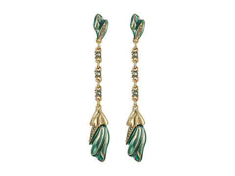 Bijuterii Femei Oscar de la Renta Tulip Pave P Earrings Teal