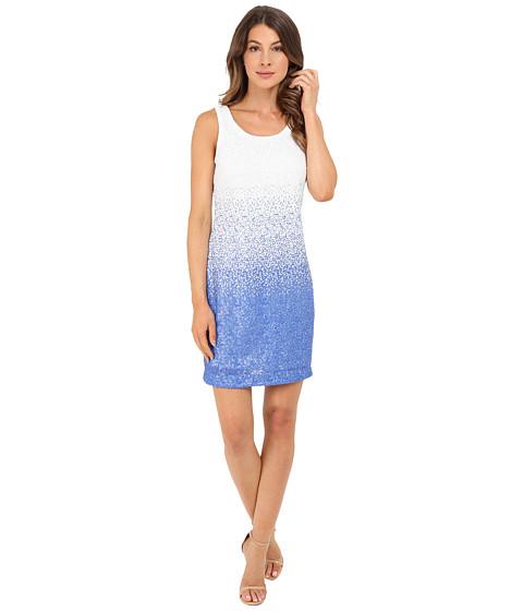 Imbracaminte Femei Christin Michaels Ombre Sequin Tank Dress BlueWhite Multi
