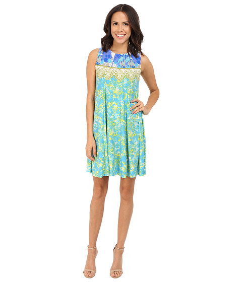Imbracaminte Femei Christin Michaels Leonie Sleeveless Flare Dress Blue Multi