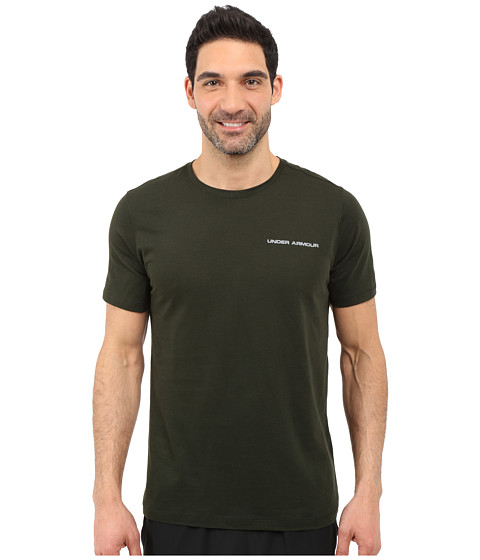 Imbracaminte Barbati Under Armour UA Charged Cottonreg Microthread Short Sleeve Tee Artillery GreenSteel