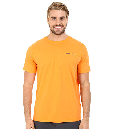 Imbracaminte Barbati Under Armour UA Charged Cottonreg Microthread Short Sleeve Tee Beta OrangeAnthracite