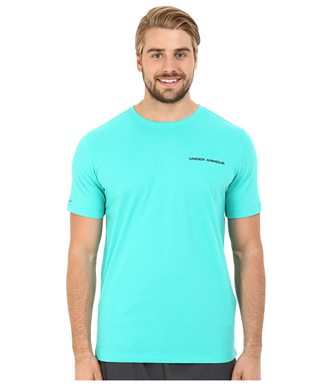 Imbracaminte Barbati Under Armour UA Charged Cottonreg Microthread Short Sleeve Tee Green MalachiteAnthracite