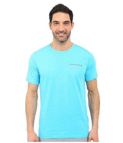 Imbracaminte Barbati Under Armour UA Charged Cottonreg Microthread Short Sleeve Tee Meridian BlueGraphite