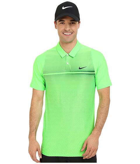 Imbracaminte Barbati Nike Golf Tiger Woods Velocity Hypercool Print Polo Voltage GreenWhiteBlackReflect Black