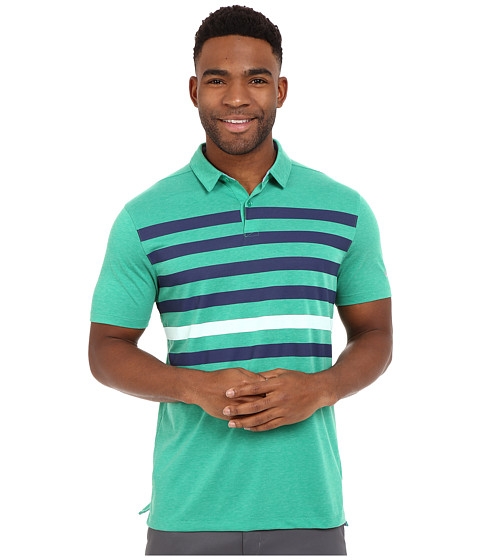 Imbracaminte Barbati Nike Golf Transition Stripe Polo Lucid GreenMidnight NavyWhiteFlt Silver