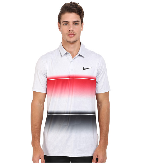 Imbracaminte Barbati Nike Golf Mobility Stripe Polo University RedWolf GreyAnthracite