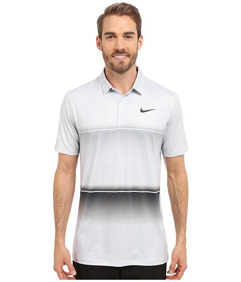 Imbracaminte Barbati Nike Golf Mobility Stripe Polo Wolf GreyPure PlatinumAnthracite