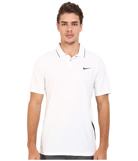Imbracaminte Barbati Nike Tiger Woods Velocity Woven Solid Polo WhiteBlackReflect Black