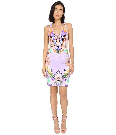 Imbracaminte Femei Just Cavalli Fitted Printed Jersey Tank Dress Leo Giraffe Print Lux Violet