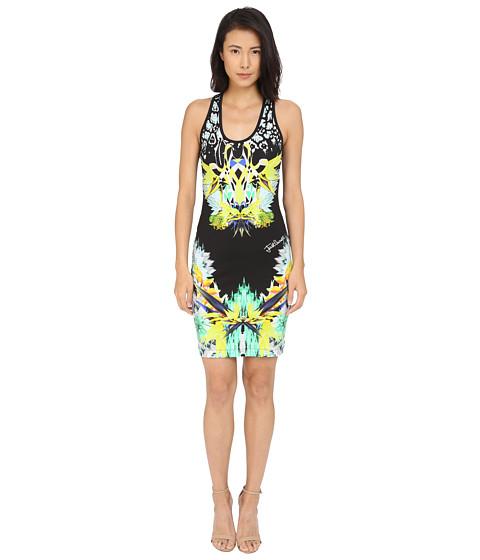Imbracaminte Femei Just Cavalli Fitted Printed Jersey Tank Dress Leo Giraffe Print Black